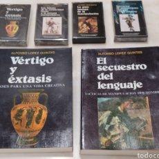 Libros: ALFONSO LÓPEZ QUINTAS. DOS LIBROS Y 4 CASSETTES VER FOTOS.. Lote 261817040
