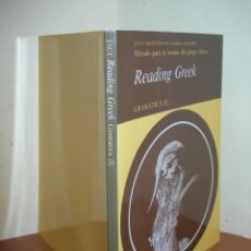 Libros: MÉTODO PARA LA LECTURA DEL GRIEGO CLÁSICO / GRAMÁTICA ( 1 ). Lote 263186595