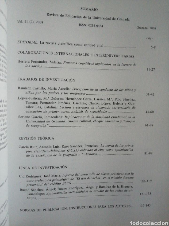 Libros: Revista de Educación. Vol.21 (2).Universidad de Granada - Foto 2 - 267635469