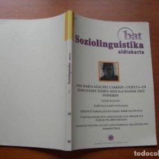 Libros: SOZIOLINGUISTICA ALDIZKARIA / 18 ZKA. Lote 274418093
