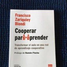Libros: COOPERAR PARA APRENDER. Lote 278535738