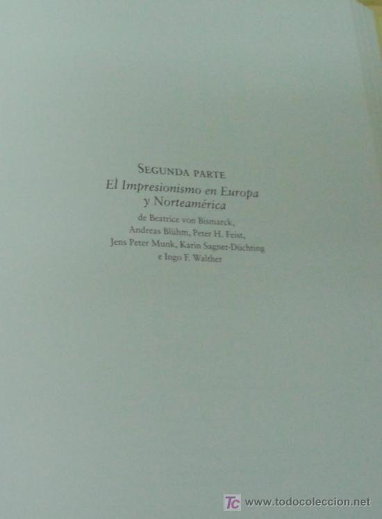 Libros: EL IMPRESIONISMO. EDITORIAL TASCHEN.DOS TOMOS EN UNO. OBRA COMPLETA. EDICIÓN DE LUJO - Foto 7 - 14364822