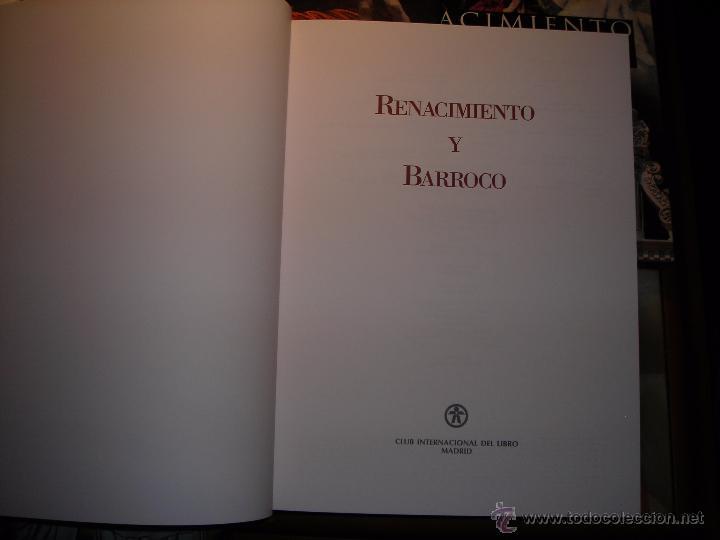 Libros: RENACIMIENTO Y BARROCO (5 Tomos). Club Internacional del Libro.(Sin estrenar). - Foto 2 - 165395041