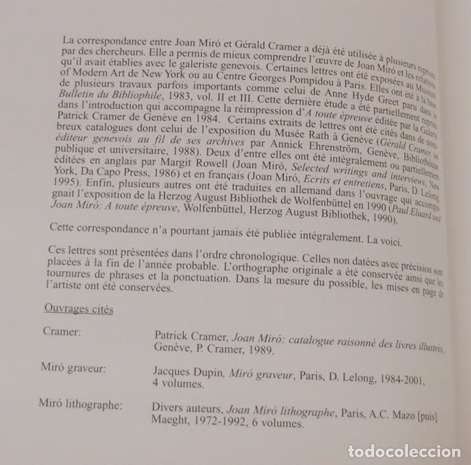 Libros: Joan Miró - Gérald Cramer. Une correspondance à toute épreuve. 2002 - Foto 9 - 102141383