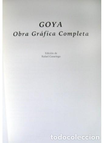 Libros: CASARIEGO, Rafael (Ed.). Goya. Obra gráfica completa. 2004. - Foto 2 - 103031447
