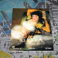Libros: GOYA - ROSE-MARIE & RAINER HAGEN - TASCHEN - EL PAÍS - 9 778498 156523. Lote 107191735