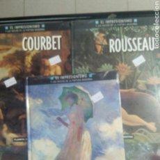 Libros: MONET-ROUSSEAU-COUBERT. LOTE 3 LIBROS EL IMPRESIONISMO. Lote 109136819