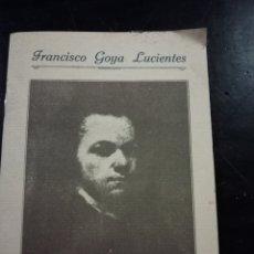 Libros: LIBRO CARTILLA DE FRANCISCO GOYA, FUENDETODOS ZARAGOZA. Lote 113299967