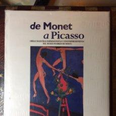 Libros: DE MONET A PICASSO. Lote 144016625