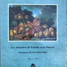 Libros: LIBRO LOS ALIMENTOS DE ESPAÑA EN LA PINTURA. BODEGONES DE LUIS MELENDEZ. Lote 155385781