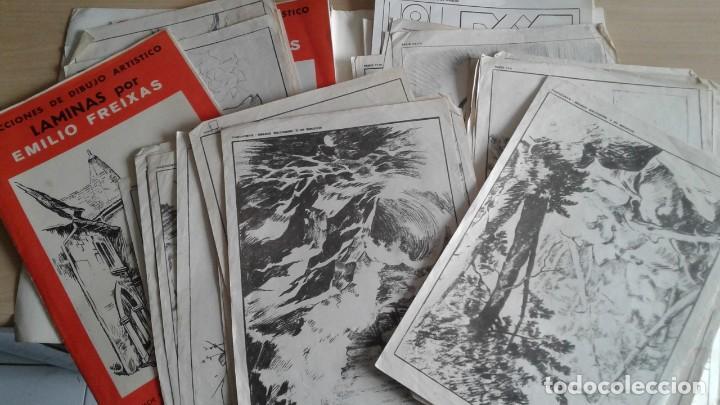 LOTE DE UNAS 190 LAMINAS DE DIBUJO ANTIGUAS-AÑOS 50,60 Y 70-VER FOTOS (Libros Nuevos - Bellas Artes, ocio y coleccionismo - Pintura)
