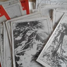 Libros: LOTE DE UNAS 190 LAMINAS DE DIBUJO ANTIGUAS-AÑOS 50,60 Y 70-VER FOTOS. Lote 165832950
