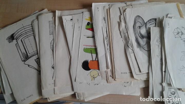 Libros: LOTE DE UNAS 190 LAMINAS DE DIBUJO ANTIGUAS-AÑOS 50,60 Y 70-VER FOTOS - Foto 3 - 165832950