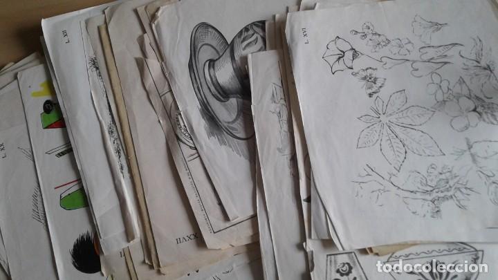 Libros: LOTE DE UNAS 190 LAMINAS DE DIBUJO ANTIGUAS-AÑOS 50,60 Y 70-VER FOTOS - Foto 5 - 165832950