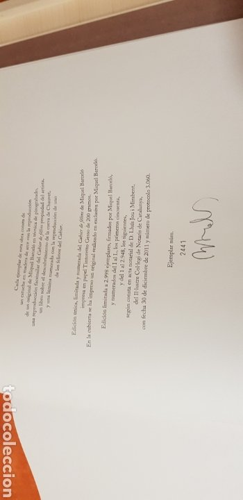 Libros: Miquel Barceló. edicion limitada. firmada a lapiz por miquel barcelò.Cahier de felins.lámina - Foto 15 - 175193148