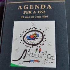 Libros: AGENDA PER A 1993. EL MON DE JOAN MIRO. Lote 200353806