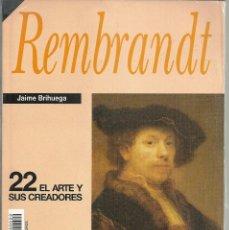 Libros: JAIME BRIHUEGA - REMBRANDT (HISTORIA 16) (PRECINTADO). Lote 208905270