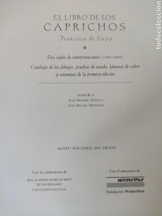 Libros: Libro de los caprichos. Francisco de Goya. Lujo - Foto 2 - 209828637