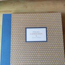 Libros: LIBRO DE LOS CAPRICHOS. FRANCISCO DE GOYA. LUJO. Lote 209828637