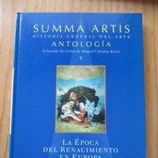 Libros: LA ÉPOCA DEL RENACIMIENTO EN EUROPA. Lote 209845183