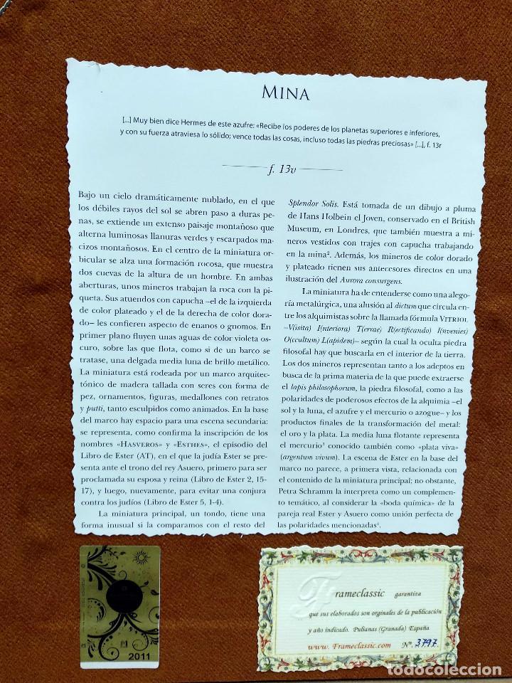 Libros: Mina, Dibujo de Hans Holbein, Splendor Solis Ediciones Moleiro 2011 montaje cuadro - Foto 10 - 212723421
