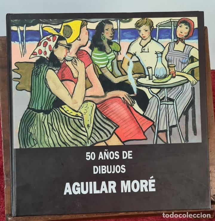 Libros: 50 AÑOS DE DIBUJOS DE AGUILAR MORÉ. 4 LITOGRAFÍAS DE SERIE LIMITADA. 2003. - Foto 3 - 216419395