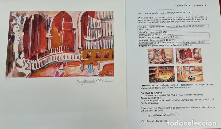 Libros: 50 AÑOS DE DIBUJOS DE AGUILAR MORÉ. 4 LITOGRAFÍAS DE SERIE LIMITADA. 2003. - Foto 7 - 216419395