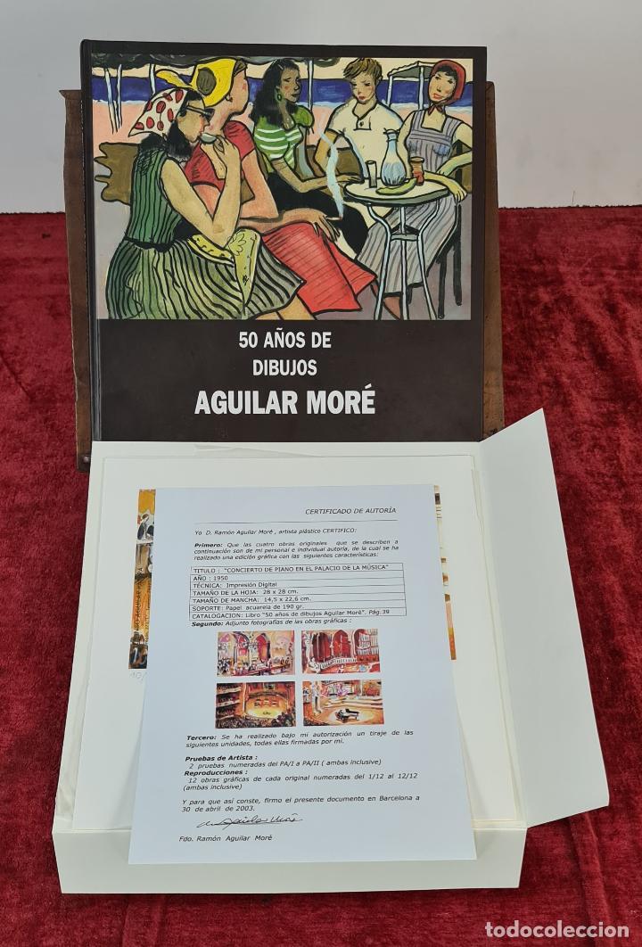 50 AÑOS DE DIBUJOS DE AGUILAR MORÉ. 4 LITOGRAFÍAS DE SERIE LIMITADA. 2003. (Libros Nuevos - Bellas Artes, ocio y coleccionismo - Pintura)