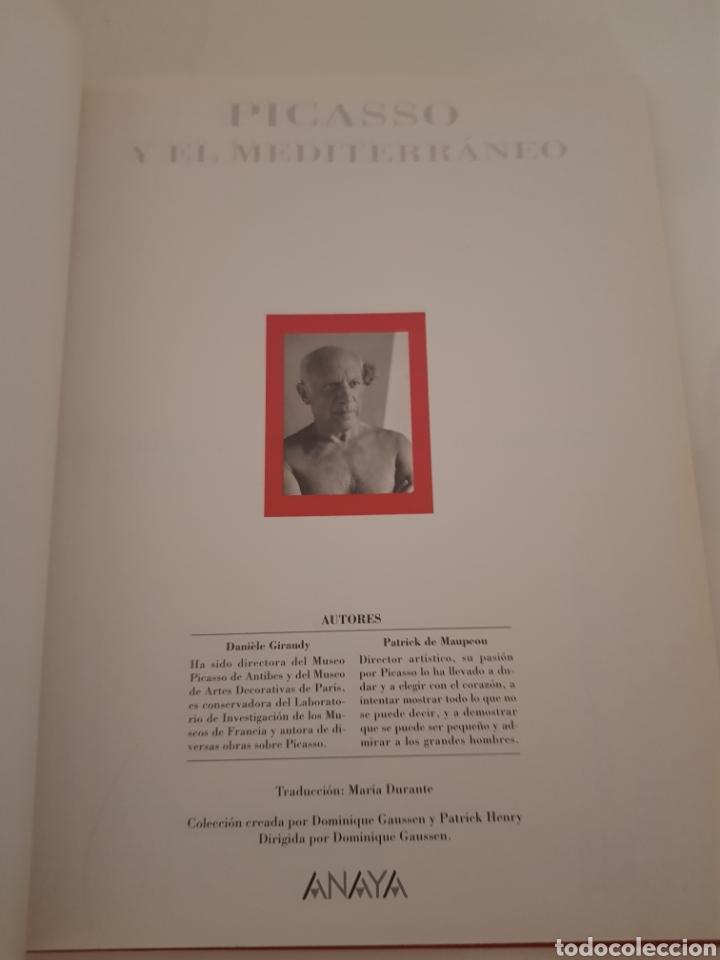 Libros: PICASSO Y EL MEDITERRÁNEO EDICION ANAYA - Foto 2 - 216794972