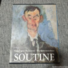 Libros: SOUTINE CATALOGUE RAISONNE WERKVERZEICHNIS. Lote 225048195