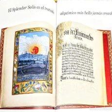 Livros: SPLENDOR SOLIS. CATALOGO MOLEIRO DE 22 PÁGINAS.8 ILUSTRACIONES ESQUISITAS CON TINTA DORADA.. Lote 227914897