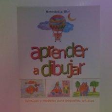 Libros: ENCANTADOR LIBRO APRENDE A DIBUJAR TECNICAS Y MODELOS PARA PEQUEÑOS ARTISTAS. Lote 236061665