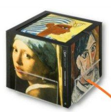 Libros: JOYAS DEL ARTE, CON EXPOSITOR CUBO DE MADERA ORIGINAL, NUEVO SIN ESTRENAR Y COMPLETO. Lote 236718730