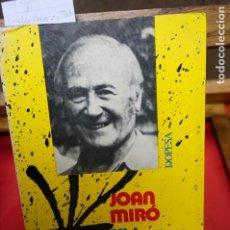 Libros: JOSEP MELIA.JOAN MIRO,VIDA Y TESTIMONIO. Lote 245419810
