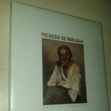 """Libri: LIBRO """"PICASSO DE MÁLAGA. AÑOS DE FORMACIÓN"""". SIN ESTRENAR.. Lote 251090275"""