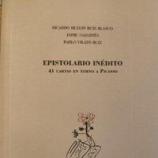 """Libros: LIBRO """"EPISTOLARIO INÉDITO. 41 CARTAS EN TORNO A PICASSO"""". Lote 251268530"""