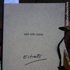 Libros: RAFOLS CASAMADA ALBERT.ESTRATS.POEMES VISUALS.. Lote 261215735