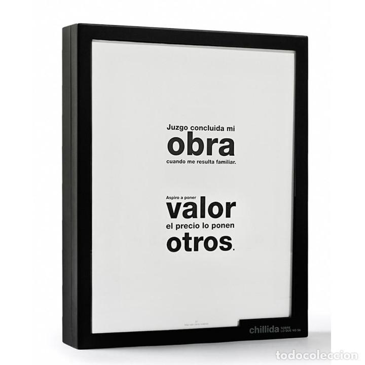 Libros: CHILLIDA - SOBRE LO QUE NO SE - ARTIKA - 2009 - Foto 2 - 262940775