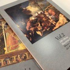 Libros: LOTE 100 OBRAS MAESTRAS DEL MUSEO NACIONAL DEL PRADO TOMOS 1 Y 2. Lote 269655623