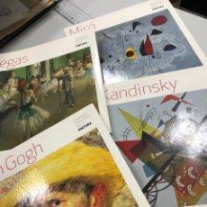 Libri: LOTE CUATRO LIBROS PINTURA VAN GOGH KANDINSKY MIRÓ DEGAS. Lote 281871153
