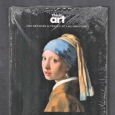 Libros: JOHANNES VERMEER Y EL DESEO MONOGRÁFICO ED EL PAÍS 2020 COLEC THIS IS ART LIBRO + DVD PLASTIFICADO. Lote 284247563