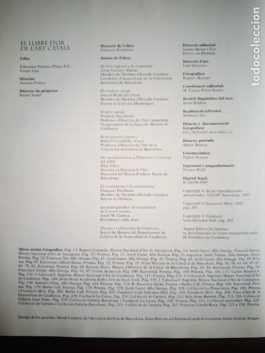 Libros: El llibre d´or de l´art Catalá Recopilacion en laminas/cromos obras historia del arte en Cataluña - Foto 2 - 288977838