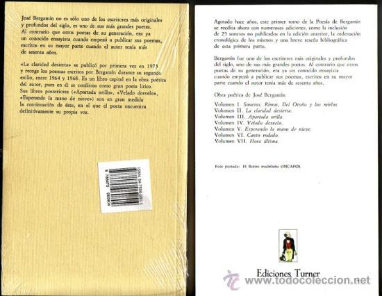 Libros: POESIA DE JOSE BERGAMIN. José Bergamin. 7 vols. - Foto 8 - 25669655