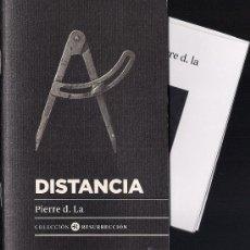 Libros: PIERRE D. LA: DISTANCIA. (COMUNITER ED., 2011) LIBRO NUEVO. Lote 34123073