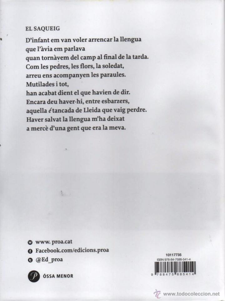Libros: DES DON TORNAR A ESTIMAR de JOAN MARGARIT - PROA, 2015 (NUEVO) - Foto 2 - 53703332