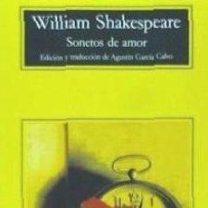 Libros: SONETOS DE AMOR ANAGRAMA. Lote 70854943