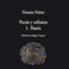 Libros: POESÍA Y SOFISMAS : II SOFISMAS VISOR LIBROS, S.L.. Lote 98171067