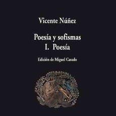Libros: POESÍA Y SOFISMAS I : POESÍA VISOR LIBROS, S.L.. Lote 98171078