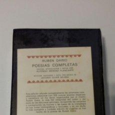 Libros: RUBEN DARIO POESIAS COMPLETAS 1975 (AGUILAR). Lote 100342827