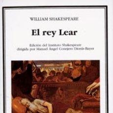Libros: EL REY LEAR ED. CATEDRA. Lote 103765543